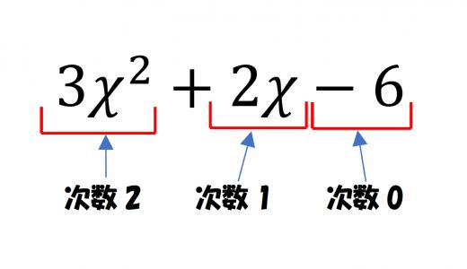「多項式の次数」というのがあるらしい